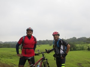 With my cycling buddy, Nishish Saxena