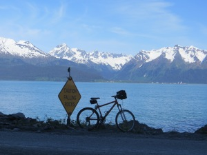 Gravel road leading out of Seward